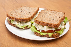 Egg Salad Sandwiches Royalty Free Stock Photos