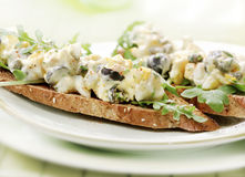 Egg salad with toast Stock Photography