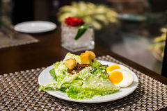 Egg salad. On the white plate Stock Photography
