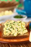 Egg Salad on Wholegrain Bread Stock Photography