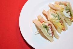 Egg sandwich bread Stock Photo