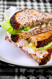 Egg Sandwich on a plate 02 Stock Photo