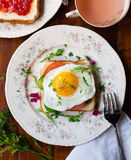 Egg Sandwich on Plate Royalty Free Stock Photography