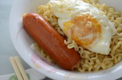 Egg sausage noodle Royalty Free Stock Photos