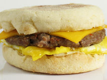 Egg & Sausage Sandwich Royalty Free Stock Images