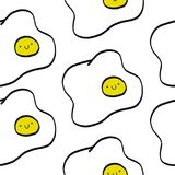 Egg seamless pattern stock illustration