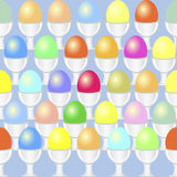Egg seamless pattern Royalty Free Stock Photos