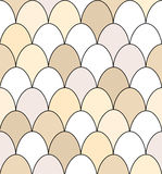 Egg seamless Royalty Free Stock Photography