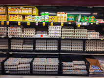Egg Selection Fred Meyer Springfield, OR Royalty Free Stock Images