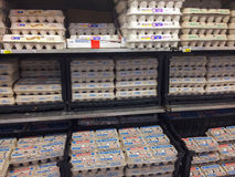 Egg Selection Fred Meyer Springfield, OR Stock Image