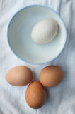 A egg separate to three eggs. Stock Image