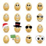 Egg set cartoon vector Royalty Free Stock Photos
