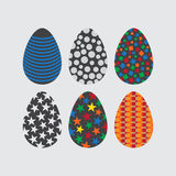 Easter egg set. Royalty Free Stock Image