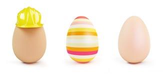 Egg set on a white background 3D illustration Royalty Free Stock Photos
