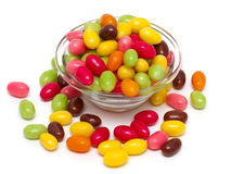 Egg-shaped candies Stock Photos