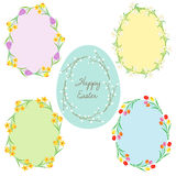 Egg shaped Easter frames Royalty Free Stock Images