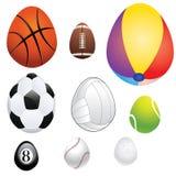 Egg Shaped Sport Balls Stock Photos
