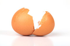 Egg Shell. Cracked Egg Shell Isolated On White Background Stock Image