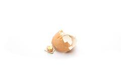 Egg shell broke. Egg shell on white background Royalty Free Stock Photos