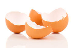 Egg shell crack Stock Photography