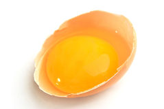 egg shell and egg yolk Royalty Free Stock Photo