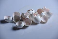 Egg shells. Broken egg shells on a white background royalty free stock images
