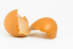 Egg shells isolated  Stock Photography