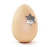 Egg sheriff. On a white background Royalty Free Stock Photo