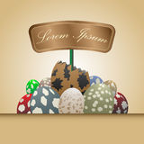 Egg and sign. Background EPS 10 Vector Royalty Free Stock Photography