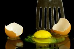 Egg and Slice Royalty Free Stock Photography