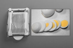 Egg slicer Royalty Free Stock Images