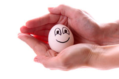Egg with smile Stock Image