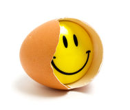 Egg smile Stock Photos