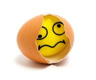 Egg smile Stock Photography