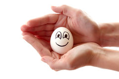 Egg with smile Royalty Free Stock Photo