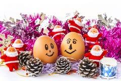 Egg smile Stock Image