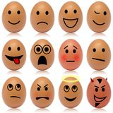 Egg smileys Stock Images