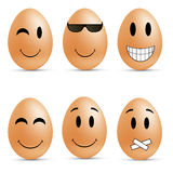 Egg smileys Stock Photo