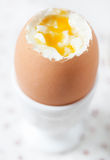 Egg soft-boiled in cup Stock Photo