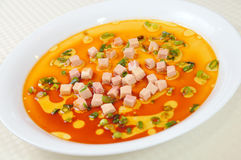 Egg soup steamed foie gras Royalty Free Stock Images