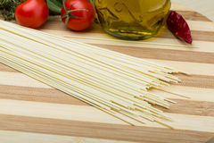 Egg spaghetti Stock Photos