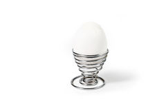Egg in Spiral Egg Cup Royalty Free Stock Images