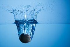 Egg splashing water Stock Image