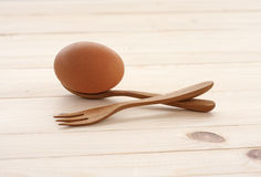 Egg and spoon Stock Image