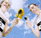 Egg And Spoon Race Royalty Free Stock Images