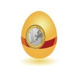 Egg with a sticker euro vector Stock Photos