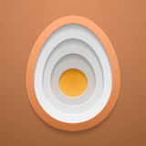 Egg structure shape icon. Happy Easter template. Vector concept. Egg structure shape. Happy Easter decoration template. Vector concept design Stock Photography