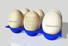 Egg with sudoku Stock Photo
