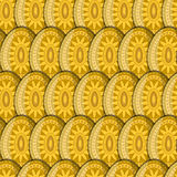 Egg Sun Pattern Stock Photography