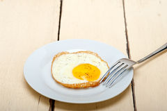 Egg sunny side up Stock Photos